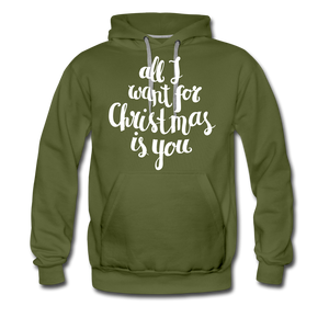 All I want for Christmas Men's Premium Hoodie - olive green