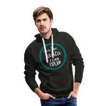 Load image into Gallery viewer, Dear Santa I can Explain Men's Premium Hoodie - charcoal gray