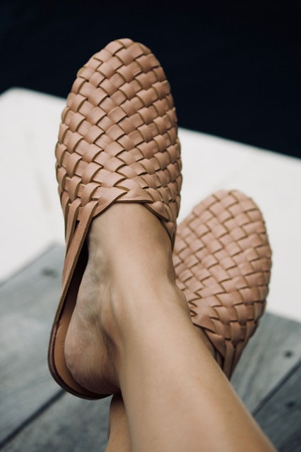 Scandic Gypsy Woven Mule - SUmmer Tan