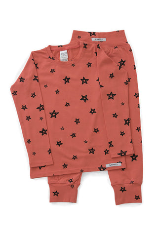 Papaya Star Long PJ Set
