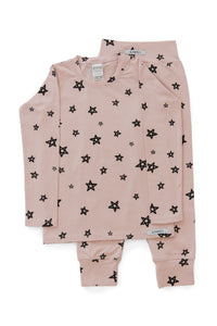 Rose Star Long PJ Set