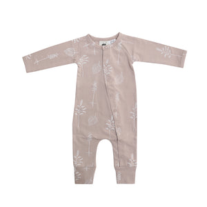 Organic Full Romper - Shadow Pink