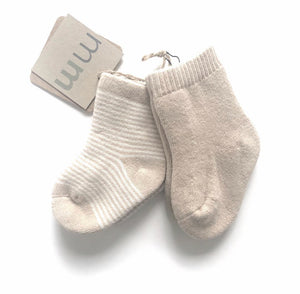Organic Socks - Tan Stripes