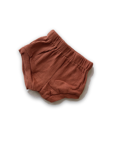 Stevie Ribbed Cotton Bloomers - Terracotta