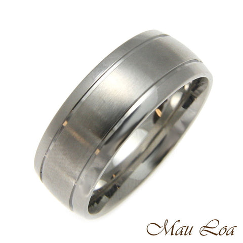 Stainless Steel Ring Wedding Band 8mm Unisex Plain Silver Color Size 6-13