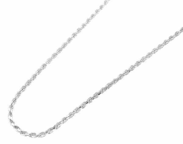 "Sterling Silver 925 Diamond Cut Italian 1.4mm Rope Chain Necklace 14"" to 18"""