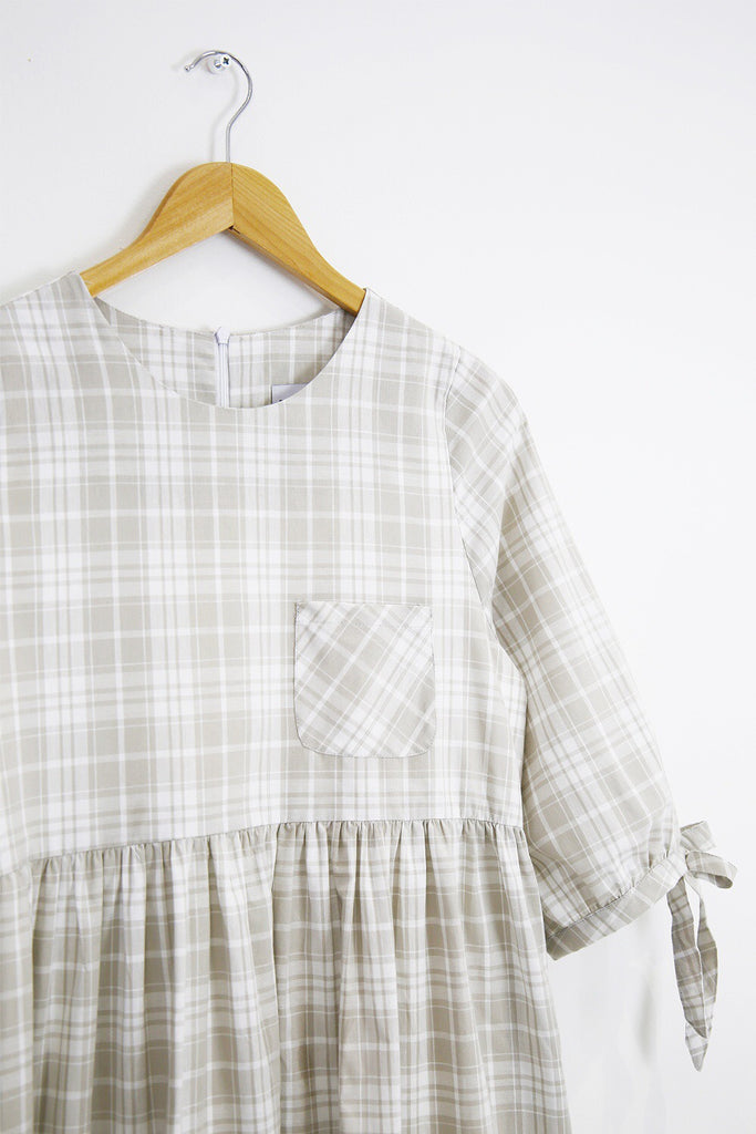 Beatrice Oversized Smock- cream