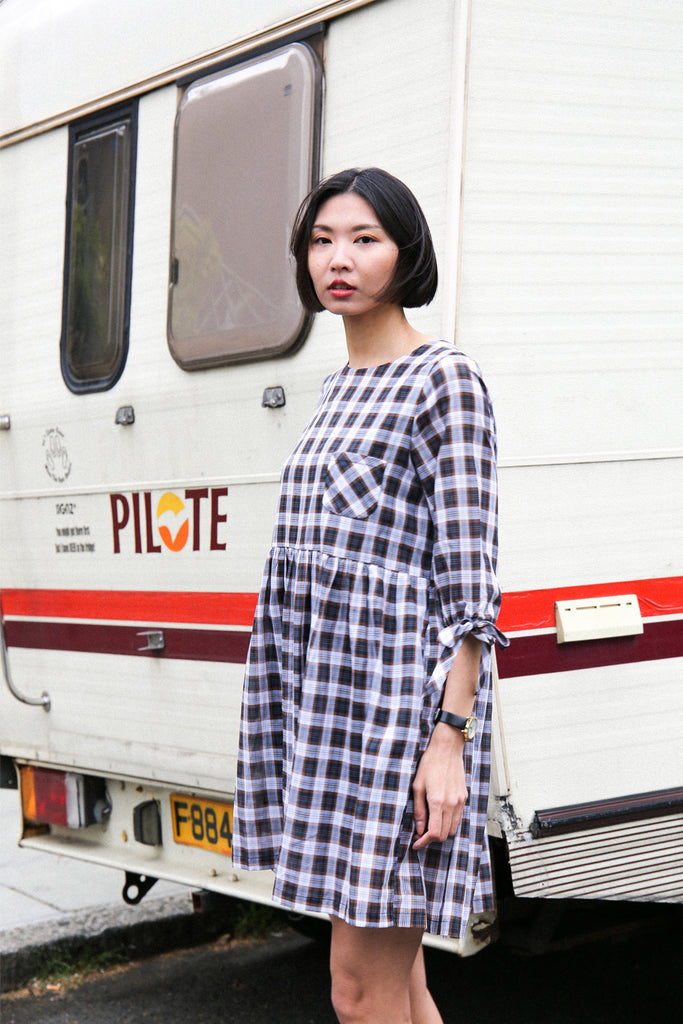 Beatrice Oversized Tie Smock Dress