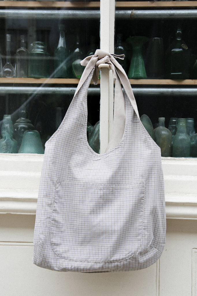 Reversible Big Grocery Bag- checked