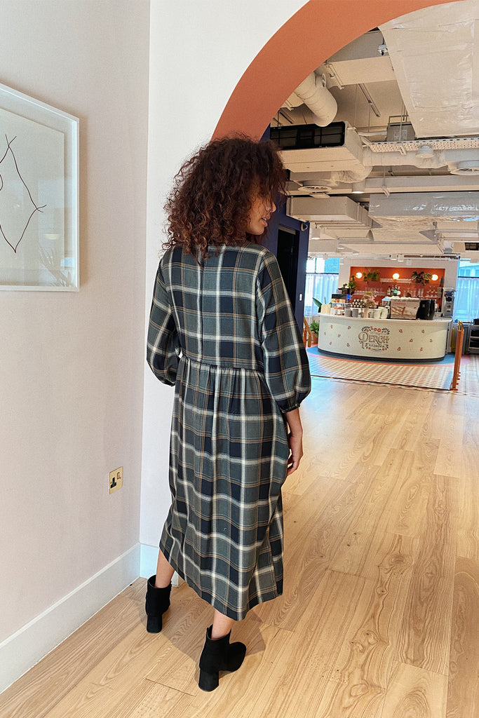Fiona over-sized midi smock- plaid