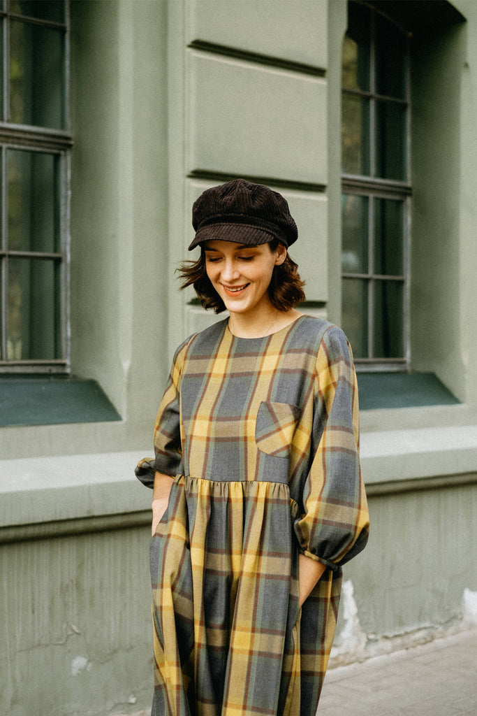 Fiona midi smock- plaid