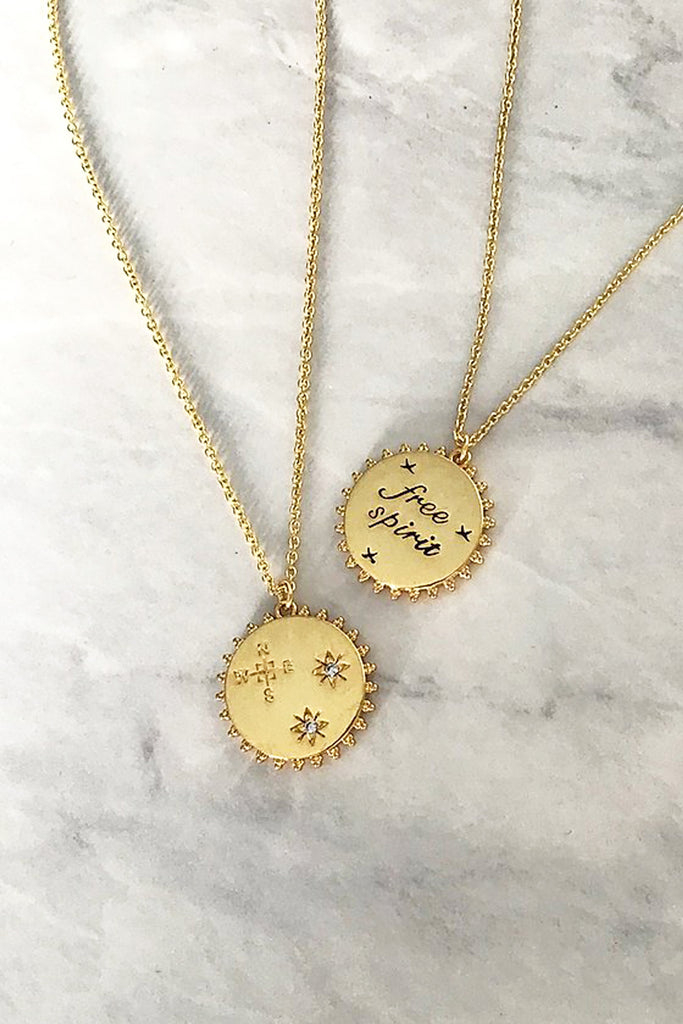 Gold Plated Reversible Free Spirit Pendant