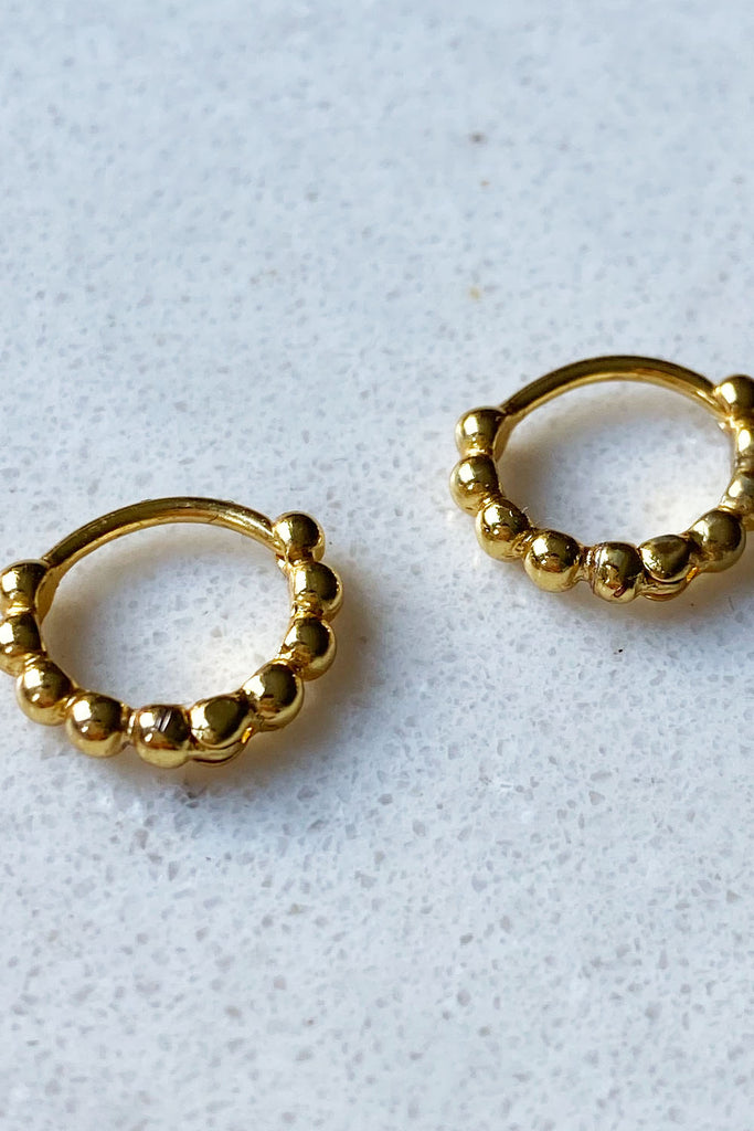 Gold Plated Huggies Hoops