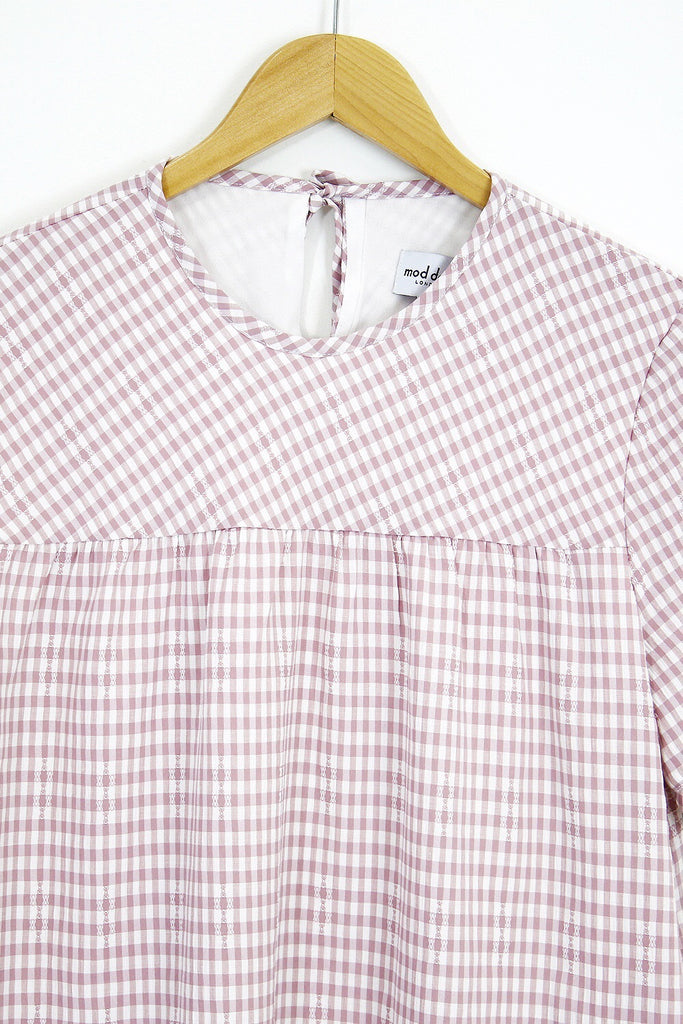 Shelly Frill Babydoll- pink gingham