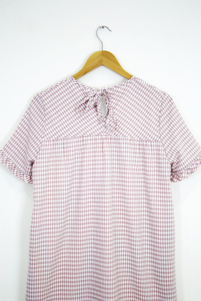 Shelly Babydoll- pink gingham