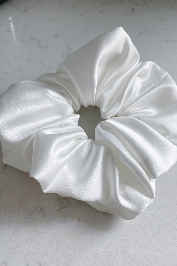 BIG Handmade Scrunchie-lilac and ivory satin set