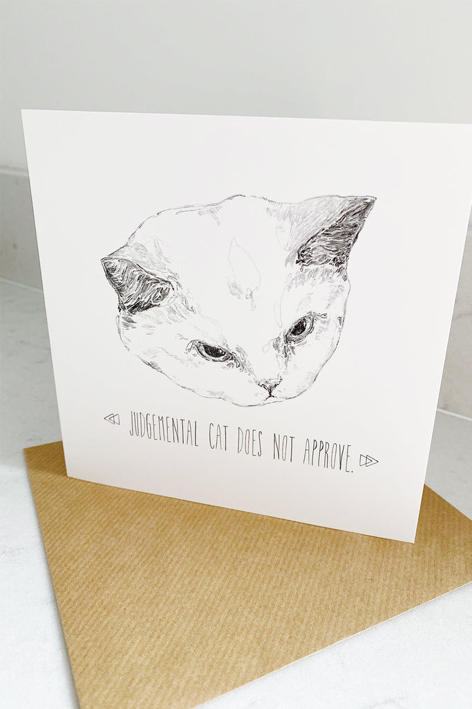 Judgemental Cat Card