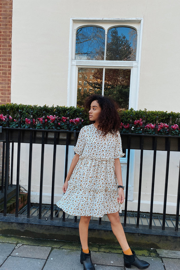 Nicole floral ruffle smock- limited edition