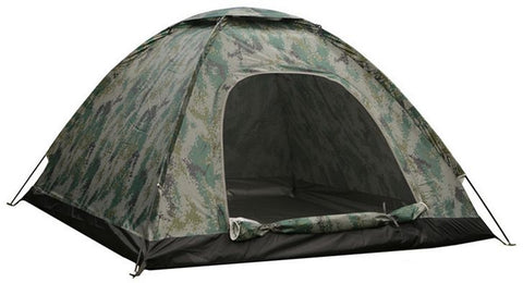 Waterproof windproof ultraviolet-proof outdoor travel camping 3-4people camouflage multifunction rainning proof tent