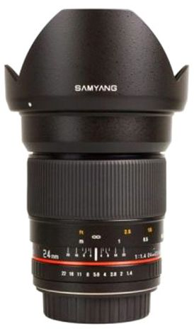 Samyang 24mm f/1.4 ED AS UMC SLR Lense for Canon Cameras
