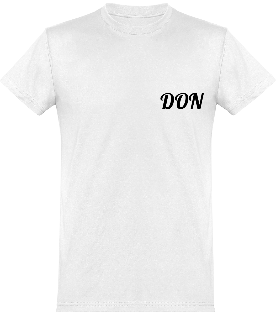 Mens Official Don Round Neck T-Shirt - White / Xs - Homme>Tee-Shirts