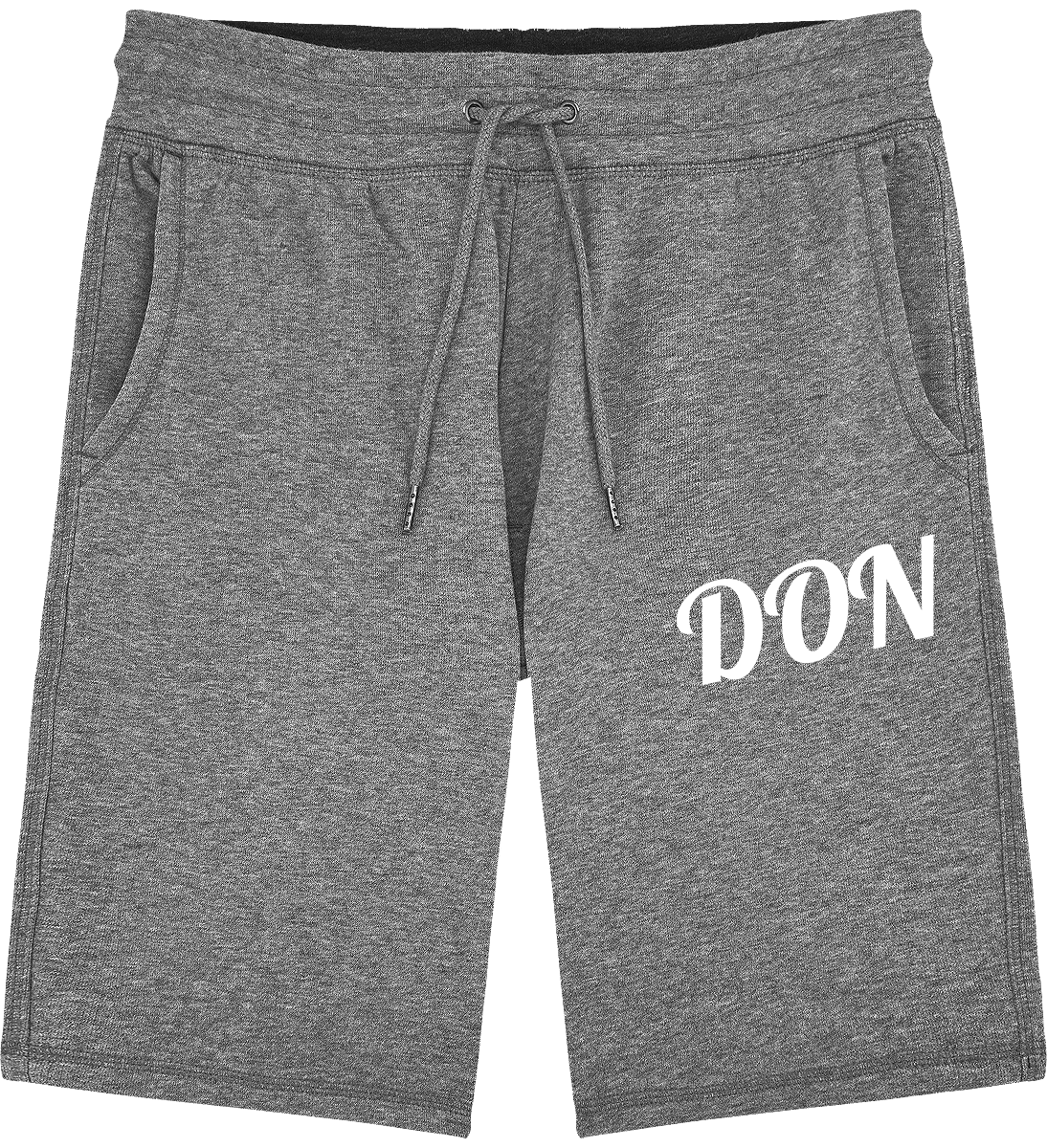 Mens Official Don Jogging Shorts - Mid Heather Grey / S - Homme>Vêtements De Sport