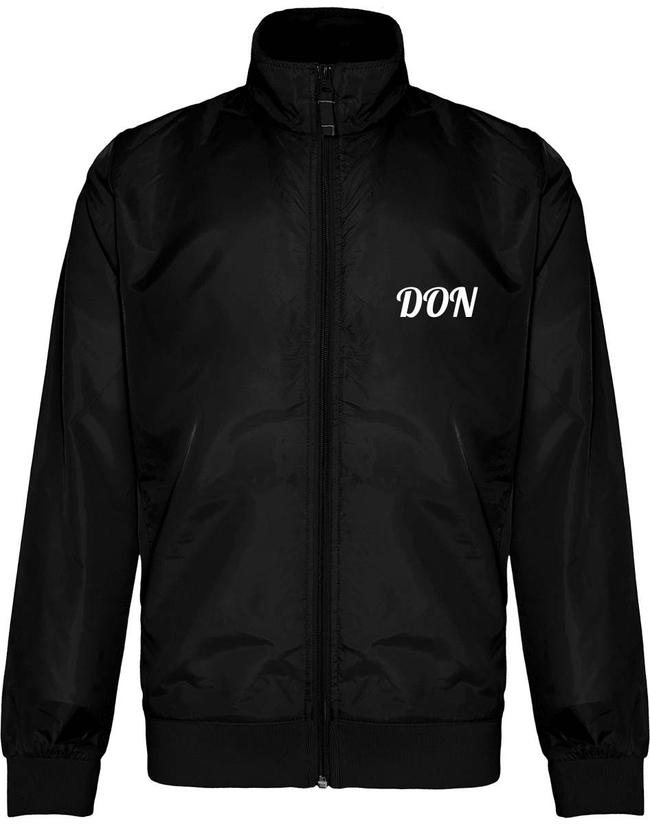 Mens Official Don Windbreaker Jacket - Black / S - Homme>Vestes & Manteaux