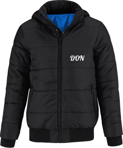Official Don Superhood Bomber Jacket - Black / Cobalt Blue Lining / S - Homme>Vestes & Manteaux