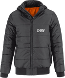 Official Don Superhood Bomber Jacket - Dark Grey / Neon Orange Lining / S - Homme>Vestes & Manteaux
