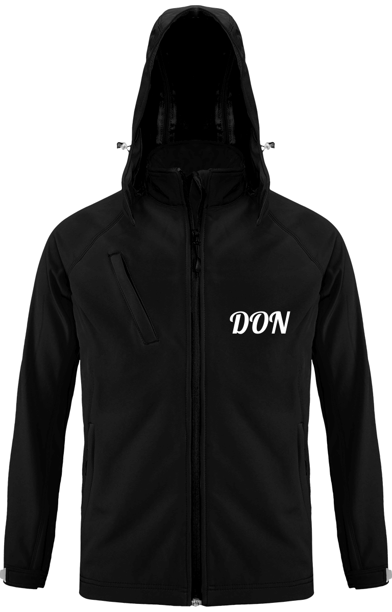 Mens Don Official Softshell Hooded Jacket - Black / S - Homme>Vestes & Manteaux