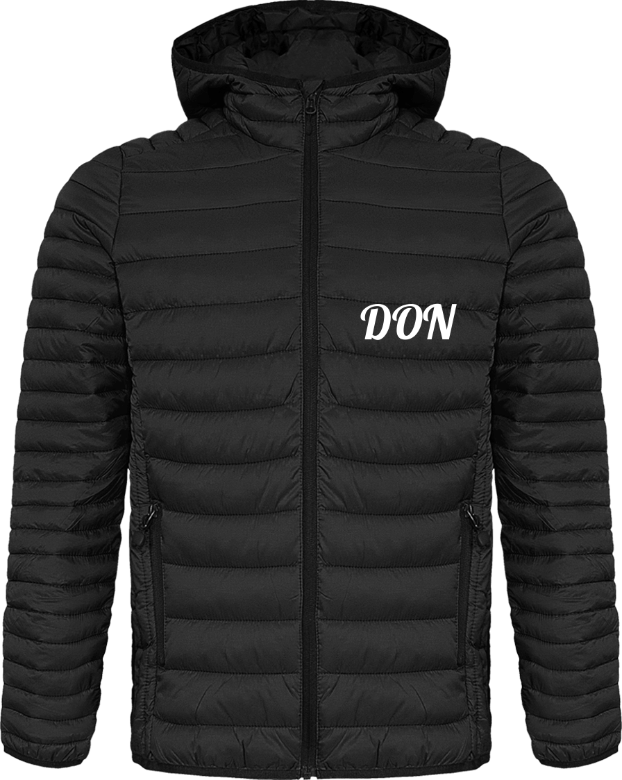 Mens Official Don Hooded Light-Down Jacket - Black / S - Homme>Vestes & Manteaux