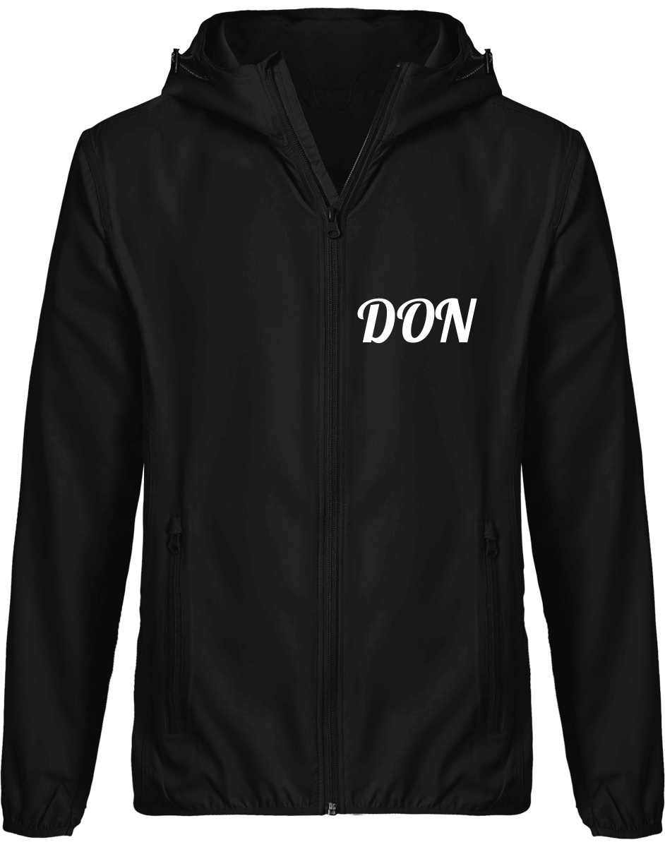 Mens Official Don Windbreaker Hooded Jacket - Black / S - Homme>Vestes & Manteaux