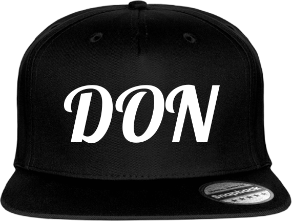 Official Don Cap 5 Snapback - Black / Tu