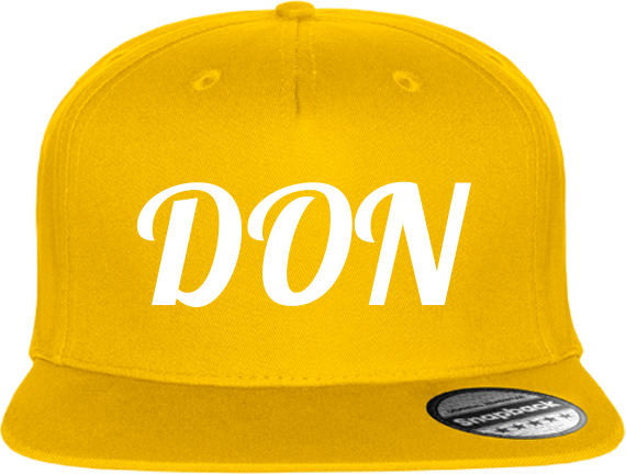Official Don Cap 5 Snapback - Yellow / Tu