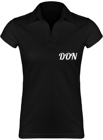 Womens Official Don Lightweight Polo-Shirt - Black / S - Femme>Polos