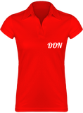 Womens Official Don Lightweight Polo-Shirt - Red / S - Femme>Polos