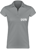 Womens Official Don Lightweight Polo-Shirt - Fine Grey / S - Femme>Polos
