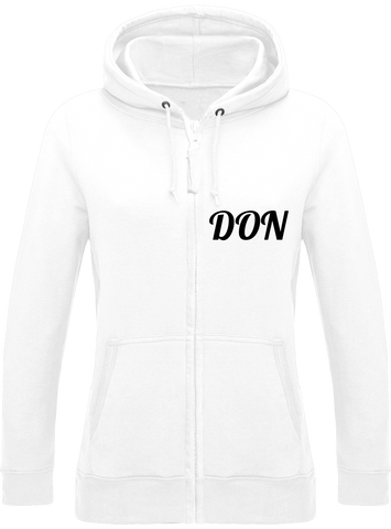 Womens Official Don Zipped Hoodie - Arctic White / Xs - Femme>Sweatshirts