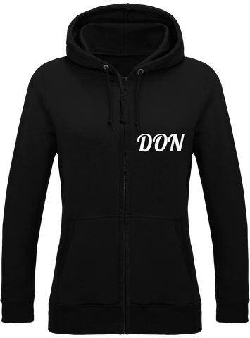 Womens Official Don Zipped Hoodie - Jet Black / Xs - Femme>Sweatshirts