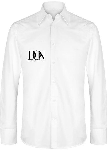 Mens Official Don Signature Slim Fit Shirt - White / S - Homme>Chemises & Pulls