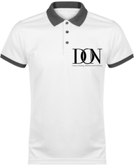 Mens Official Don Polo Piqué Signature Polo-Shirt - White / Sporty Grey / Xs - Homme>Vêtements De Sport