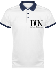 Mens Official Don Polo Piqué Signature Polo-Shirt - White / Navy / Xs - Homme>Vêtements De Sport