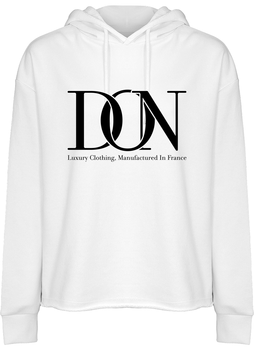 Womens Official Don Signature Hooded Crop Top - White / Xs - Femme>Sweatshirts