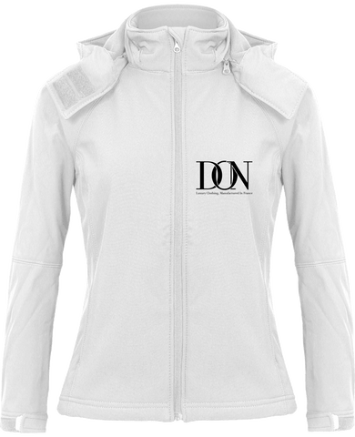 Womens Official Don Signature Softshell Hooded Jacket - White / Xs - Femme>Vestes & Manteaux