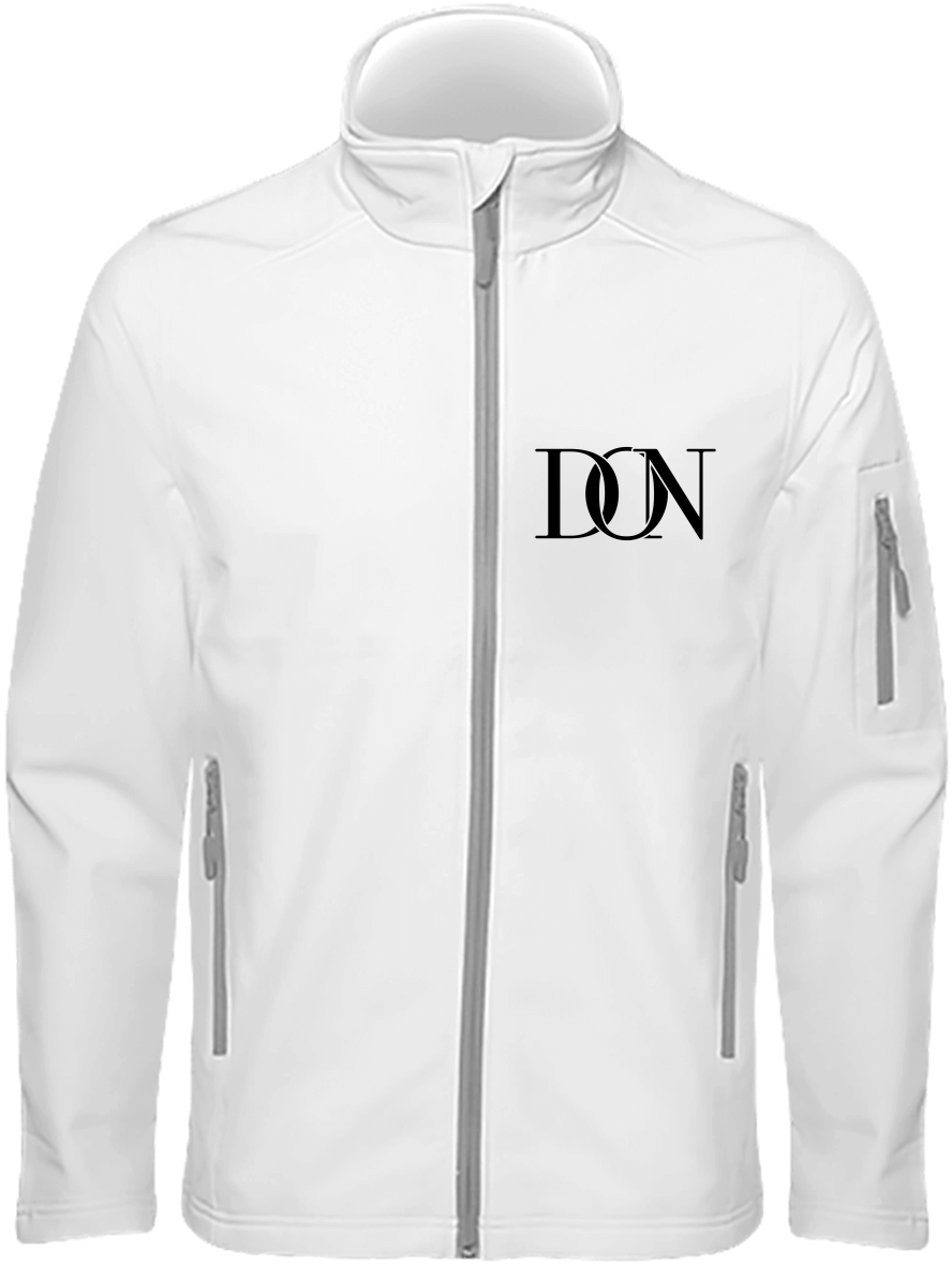 Mens Official Don Signature Soft-Shell Jacket - White / S - Homme>Vestes & Manteaux