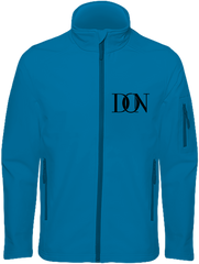 Mens Official Don Signature Soft-Shell Jacket - Aqua Blue / S - Homme>Vestes & Manteaux