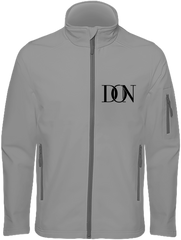 Mens Official Don Signature Soft-Shell Jacket - Marl Grey / S - Homme>Vestes & Manteaux