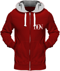 Mens Official Don Heavyweight Signature Jacket - Fire Red / S - Homme>Sweatshirts