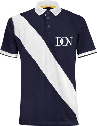 Unisex Official Don Diagonal Signature Polo-Shirt - Navy / White / S - Homme>Polos