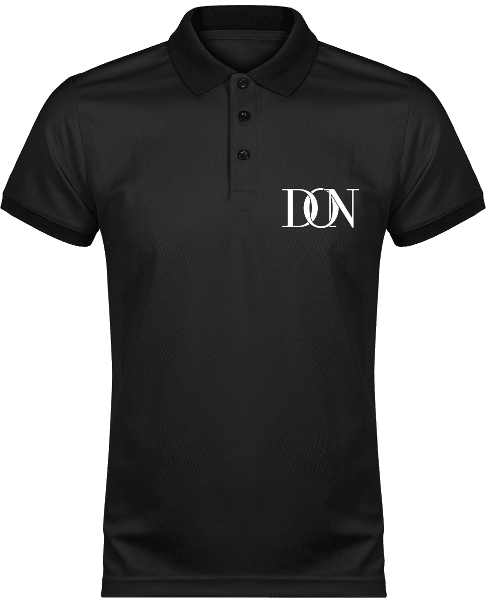 Mens Official Don Polo Piqué Signature Polo-Shirt - Black / Black / Xs - Homme>Vêtements De Sport